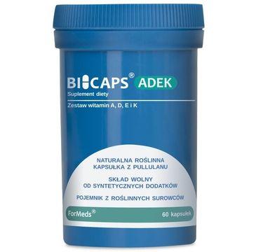 Formeds Bicaps ADEK zestaw witamin A. D. E. K suplement diety 60 kapsułek