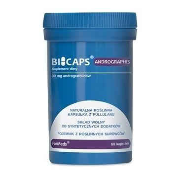 Formeds Bicaps Andrographis andrografolidy 30mg suplement diety 60 kapsułek