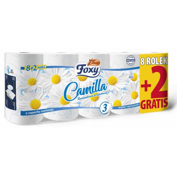 Foxy Camilla papier toaletowy 8+2 rolki (1 op.)