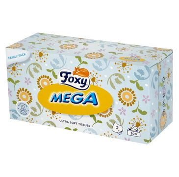 Foxy Chusteczki higieniczne Mega Ultra miękkie (1 op.- 200 szt.)