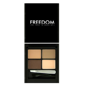 Freedom Pro Eyebrow Kit Light-Medium - Zestaw do brwi Light Medium 4 g