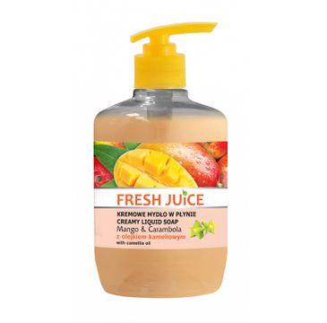 Fresh Juice kremowe mydło w płynie Mango & Carambola z olejkiem kameliowym 460 ml