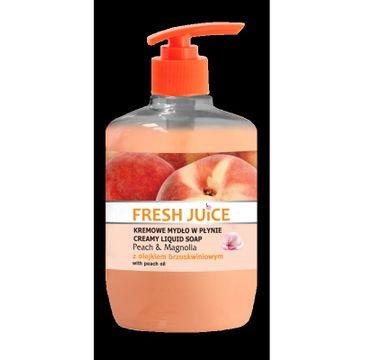Fresh Juice kremowe mydło w płynie Peach & Magnolia z olejkiem brzoskwiniowym 460 ml