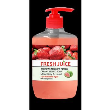 Fresh Juice kremowe mydło w płynie Strawberry & Guava z proteinami ryżu 460 ml