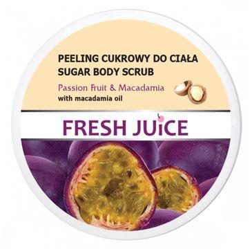 Fresh Juice – Peeling cukrowy do ciała Pasion&Macadamia (225 ml)
