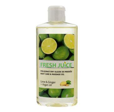 Fresh Juice Pielęgnacyjny olejek do masażu Lime & Ginger + Argan Oil 150 ml