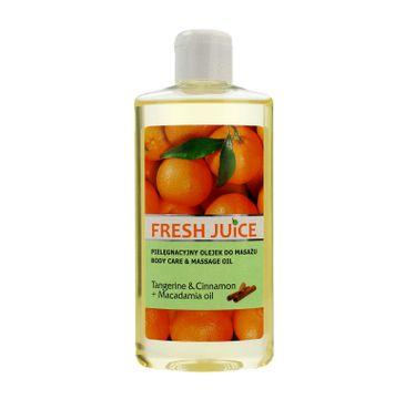 Fresh Juice pielęgnacyjny olejek do masażu Tangerine & Cinnamon i Macadamia Oil 150 ml