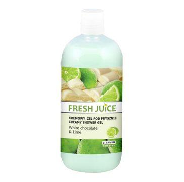 Fresh Juice żel pod prysznic kremowy biała czekolada i limonka 500 ml