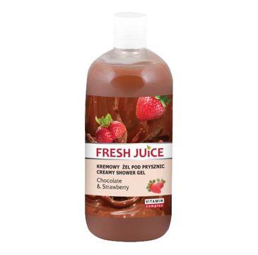 Fresh Juice żel pod prysznic kremowy czekolada i truskawka 500 ml