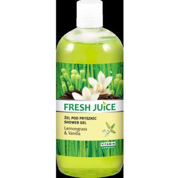 Fresh Juice żel pod prysznic Trawa Cytrynowa i Wanilia 500 ml