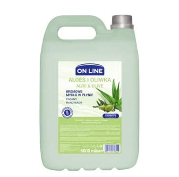 On Line Mydło kremowe Aloes Oliwka zapas (5 L)