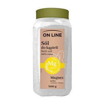 On Line – Sól do kąpieli Melisa & Cytryna (800 g)