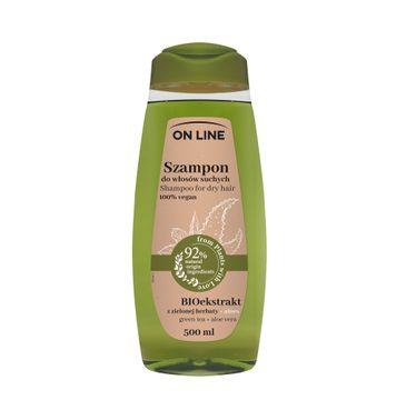 On Line – Szampon do włosów suchych Aloes & Zielona Herbata (500 ml)