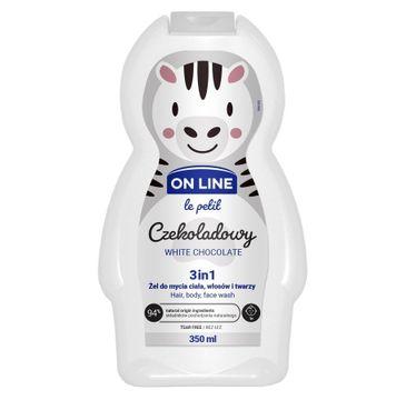 On Line – Le Petit Żel do mycia ciała,włosów i twarzy 3w1 dla dzieci Czekoladowy (350 ml)