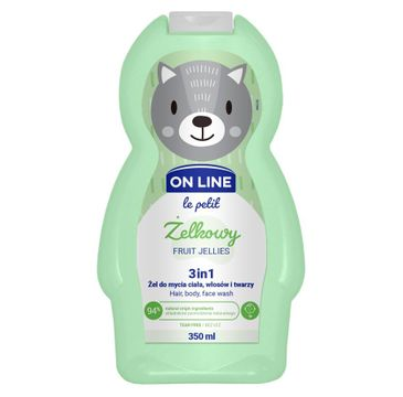 On Line – Le Petit Żel do mycia ciała,włosów i twarzy 3w1 dla dzieci Żelkowy (350 ml)