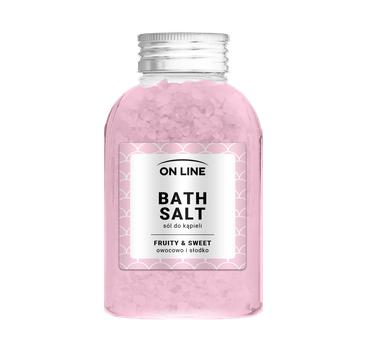 On Line – Sól do kąpieli Fruity & Sweet Pink (600 g)