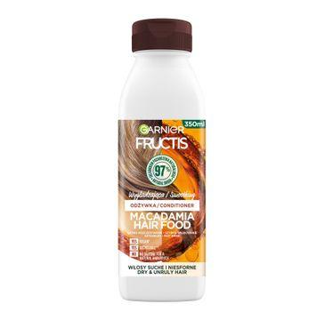Fructis Hair Food Macadamia Odżywka wygładzająca do włosów suchych i niesfornych (350 ml)