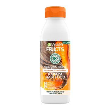 Fructis Hair Food Papaya Odżywka regenerująca do włosów zniszczonych (350 ml)