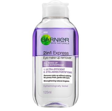 Garnier Skin Naturals Dwufazowy płyn do demakijażu oczu 2in1 Express (125 ml)