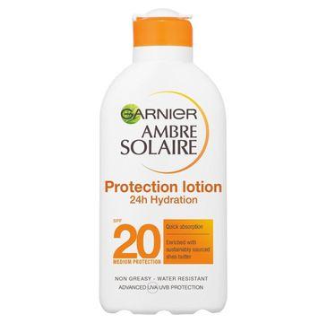 Garnier Ambre Solaire Protection Lotion ochronne mleczko nawilżające do opalania SPF20 200ml