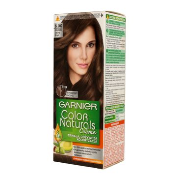 Garnier Color Naturals krem koloryzujący nr 6.00 Głęboki Jasny Brąz 1 op.