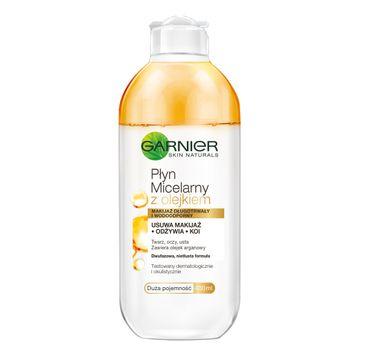 Garnier Essentials Dwufazowy płyn micelarny z olejkiem arganowym do twarzy 400 ml