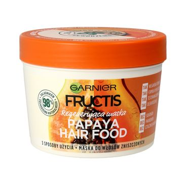 Garnier Fructis Hair Food Papaja maska regenerująca do włosów 390 ml