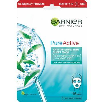 Garnier Pure Active maseczka na tkaninie do cery z niedoskonałościami (1 szt.)