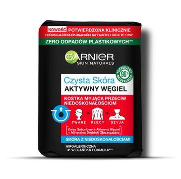 Garnier Skin Naturals Czysta skóra myjąca kostka do twarzy z aktywnym węglem (100 g)