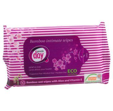 Gentle Day Bamboo Intimate Wipes chusteczki do higieny intymnej eco 10szt