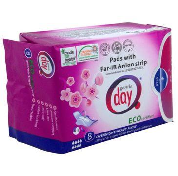 Gentle Day Pads With Far-IR Anion Strip podpaski higieniczne na noc z paskiem anionowym eco 8szt