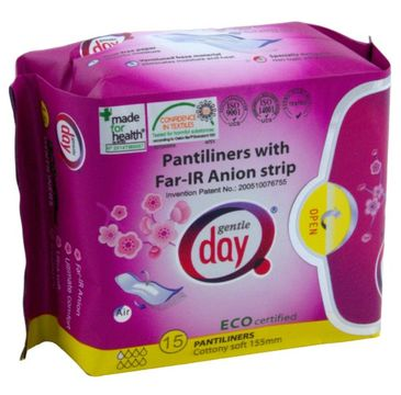 Gentle Day Pantiliners With Far-IR Anion Strip wkładki higieniczne z paskiem anionowym eco 15szt