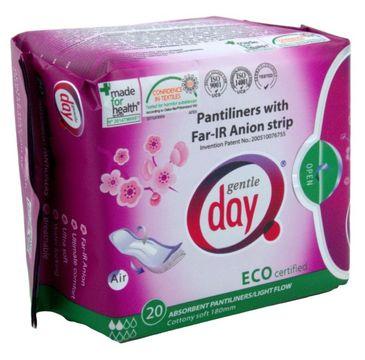 Gentle Day Pantiliners With Far-IR Anion Strip wkładki higieniczne z paskiem anionowym pochłaniające wilgoć eco 20szt