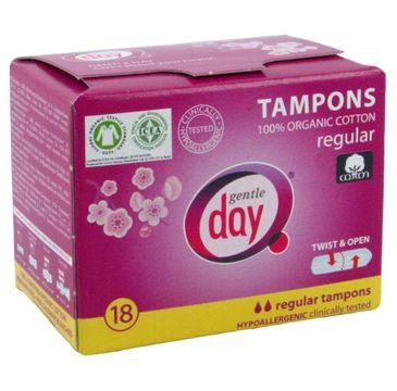 Gentle Day Tampons tampony 100% bawełny eco Regular 18szt