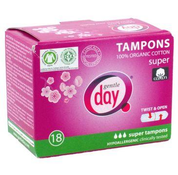 Gentle Day Tampons tampony 100% bawełny eco Super 18szt