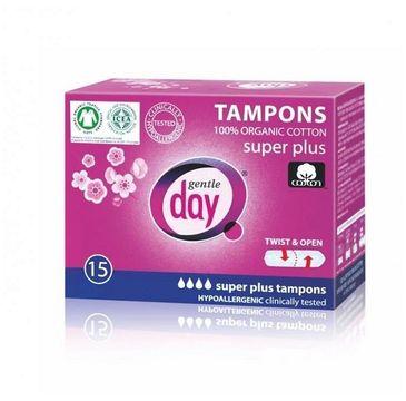 Gentle Day Tampons tampony 100% bawełny eco Super Plus 15szt