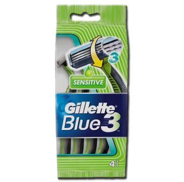 Gillette Blue 3 Sensitive jednorazowe maszynki do golenia 4szt