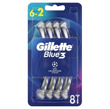 Gillette Blue 3 UEFA Champions League jednorazowe maszynki do golenia dla mężczyzn (8 szt.)