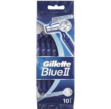 Gillette Blue II Chromium jednorazowe maszynki do golenia dla mężczyzn 10szt