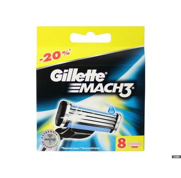 Gillette Mach 3 wymienne ostrza do maszynki do golenia 8 sztuki