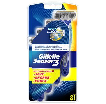 Gillette Sensor 3 jednorazowe maszynki do golenia 8szt