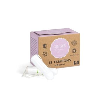 Ginger Organic Tampons tampony organiczne bez aplikatora Normal (18 szt.)