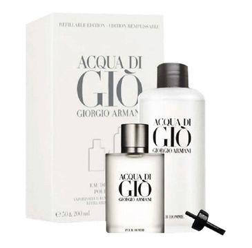 Giorgio Armani Acqua Di Gio Pour Homme zestaw woda toaletowa spray 50ml + woda toaletowa refillable 200 ml (1 szt.)