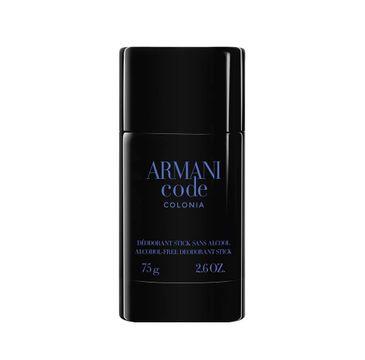 Giorgio Armani Armani Code Colonia Pour Homme dezodorant sztyft (75 g)
