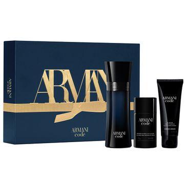 Giorgio Armani – Armani Code Pour Homme zestaw woda toaletowa spray 125ml + dezodorant sztyft 75g + żel pod prysznic 75ml (1 szt.)