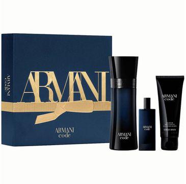 Giorgio Armani – Armani Code Pour Homme zestaw woda toaletowa spray 75ml + woda toaletowa spray 15ml + żel pod prysznic 75ml (1 szt.)