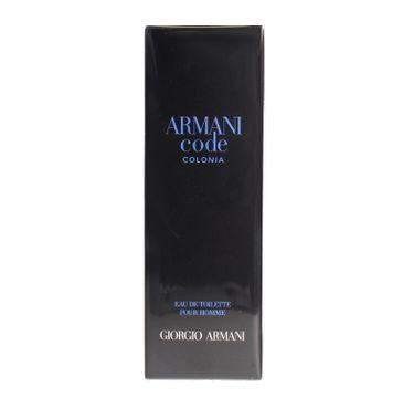 Giorgio Armani Code Colonia pour Homme Woda toaletowa 75 ml