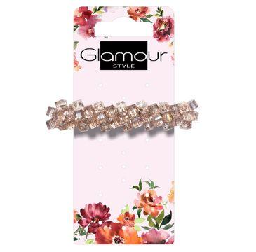 Glamour Spinka automatyczna do włosów z kryształkami (1 szt.)