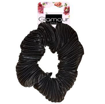 Glamour Zawijka do włosów karbowana Czarna (1 szt.)