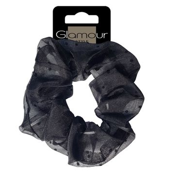 Glamour – Zawijka tiulowa do włosów Czarna (1 szt.)